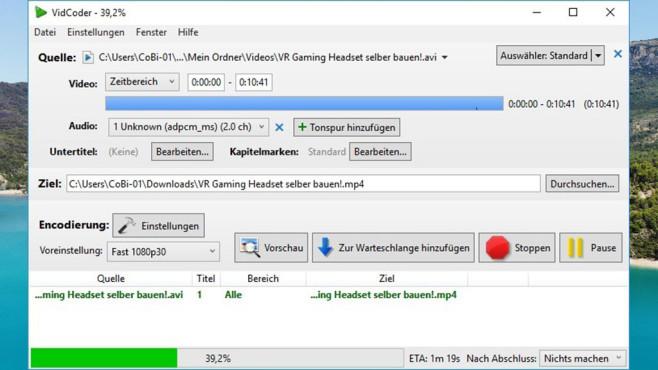 VidCoder: DVDs und Blu-Rays rippen ©COMPUTER BILD, VidCoder Developers