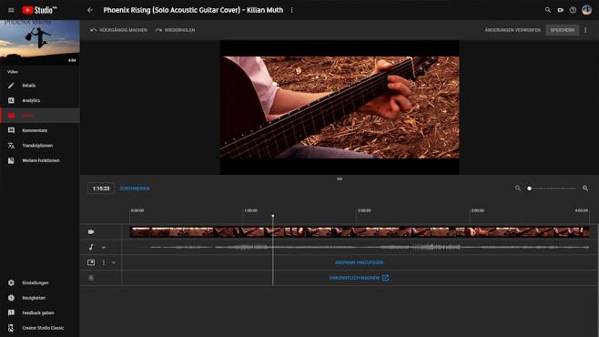 YouTube Studio: Videos nachträglich bearbeiten ©COMPUTER BILD