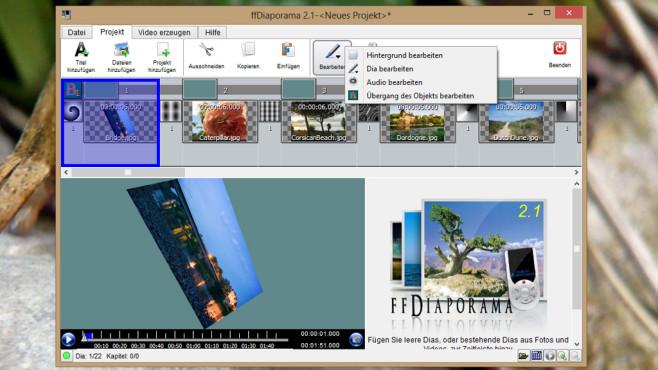 ffDiaporama: Diashows inklusive Ton zusammenstellen ©COMPUTER BILD