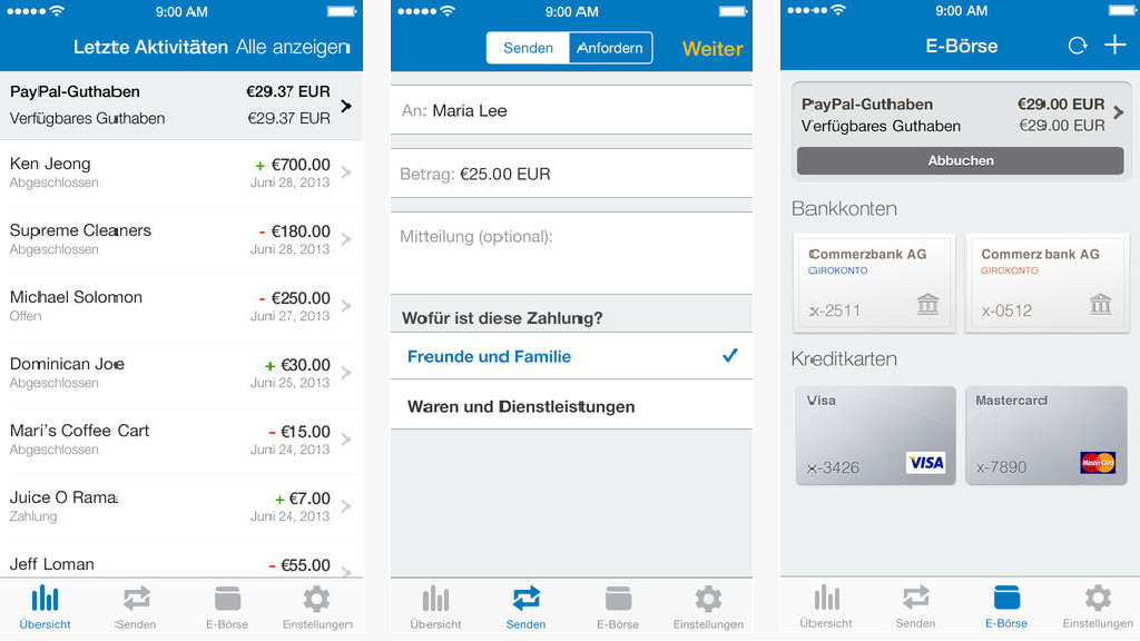 paypal app for windows phone