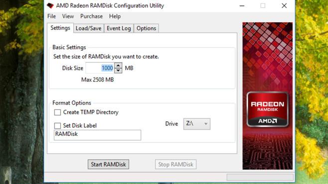 AMD Radeon RAMDisk Configuration Utility: Cleverer Laufwerksschoner ©COMPUTER BILD