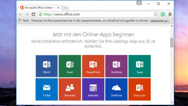 Microsoft Office Online: Schweres Büropaket meiden ©COMPUTER BILD