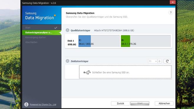 Samsung Data Migration Tool: Datenumzug ohne Neuinstallation ©COMPUTER BILD