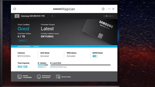 Samsung SSD Magician Tool: Flashspeicher optimieren ©COMPUTER BILD