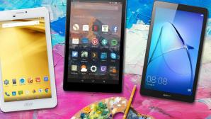 Tablets unter 150 Euro©Acer, Amazon, Huawei, �istock.com/ChrisAt, �istock.com/YakubovAlim