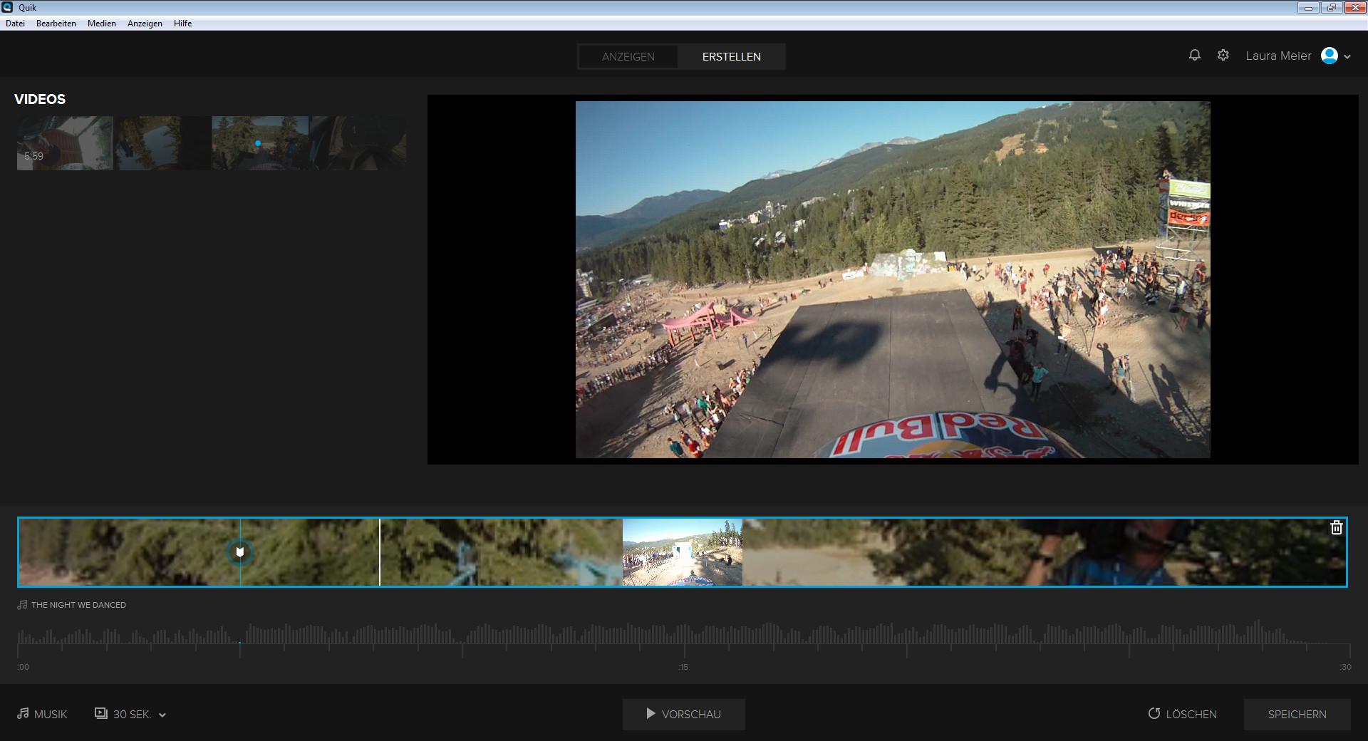 Screenshot 1 - GoPro Quik Desktop-App (GoPro Studio)
