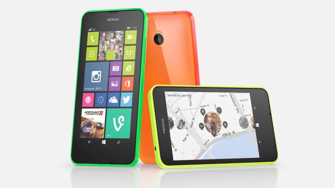 Das Nokia Lumia 635 ist die LTE-Version des Lumia 630. Wie dieses kommt es in grün, orange, gelb, weiss und schwarz.©COMPUTER BILD