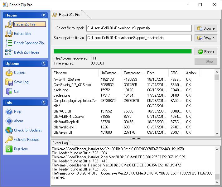 Screenshot 1 - Zip Repair Pro