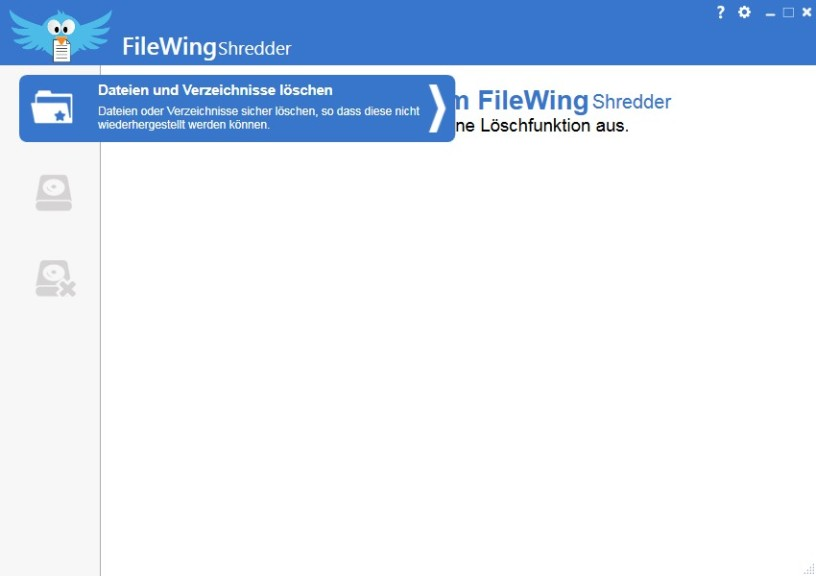 Screenshot 1 - FileWing Shredder