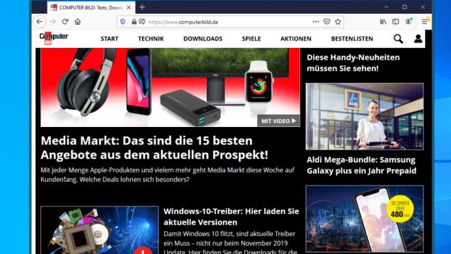 Firefox: Gut anpassungsfähiger Browser©COMPUTER BILD