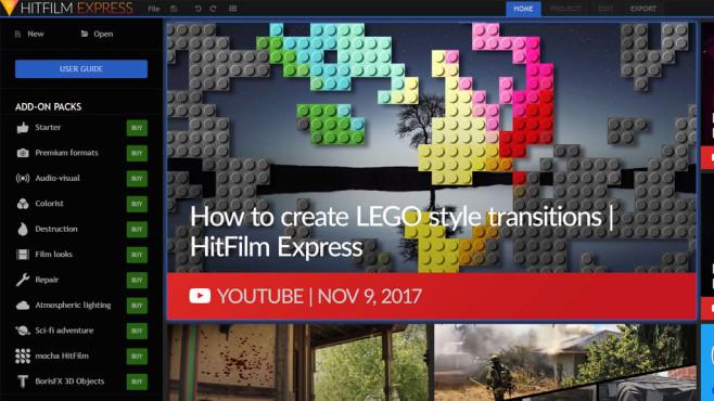 HitFilm Express: Schneiden, vertonen, bearbeiten ©COMPUTER BILD
