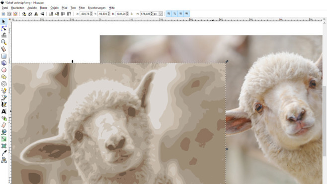 Inkscape: Bilder verlustfrei bearbeiten © Fotolia--sheep breeding and farming --artepicturas-Schaf Aufzucht