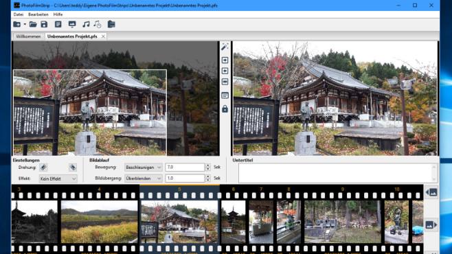 PhotoFilmStrip: Aus Bildern ein Video machen ©COMPUTER BILD