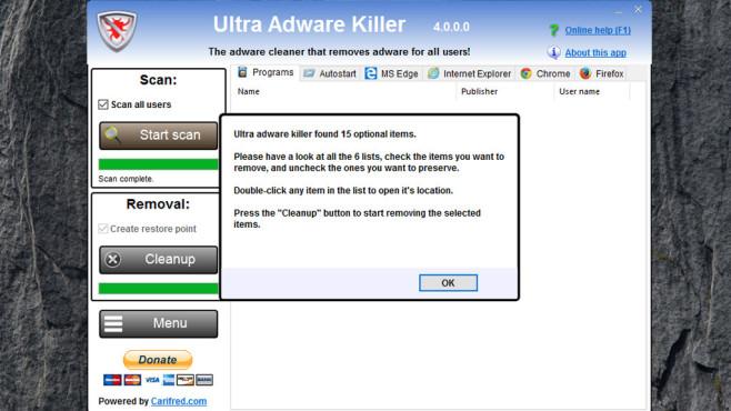 Ultra Adware Killer: Werbeprogramme eliminieren ©COMPUTER BILD