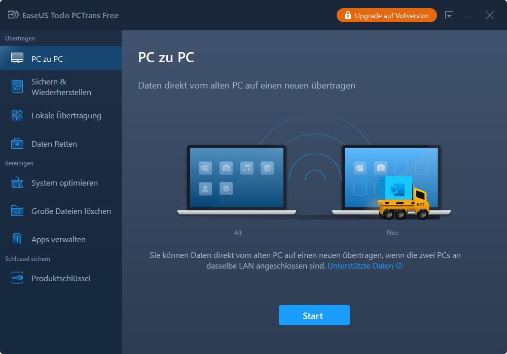 Screenshot 1 - EaseUS Todo PCTrans Free
