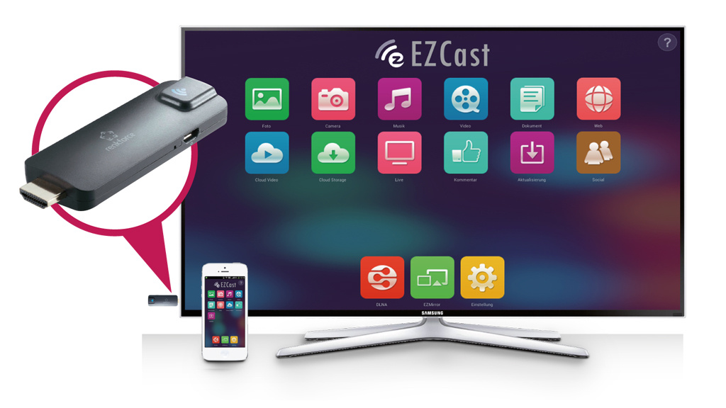renkforce renkcast smarttv stick im test audio video. Black Bedroom Furniture Sets. Home Design Ideas