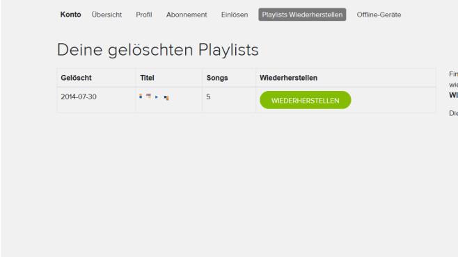 Gelöschte Playlists wiederherstellen ©COMPUTER BILD