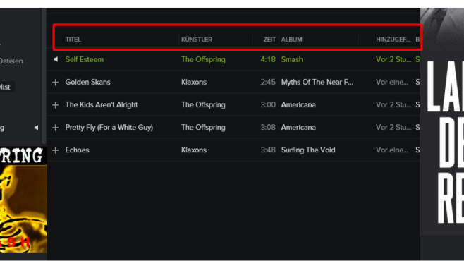 Playlists sortieren ©COMPUTER BILD