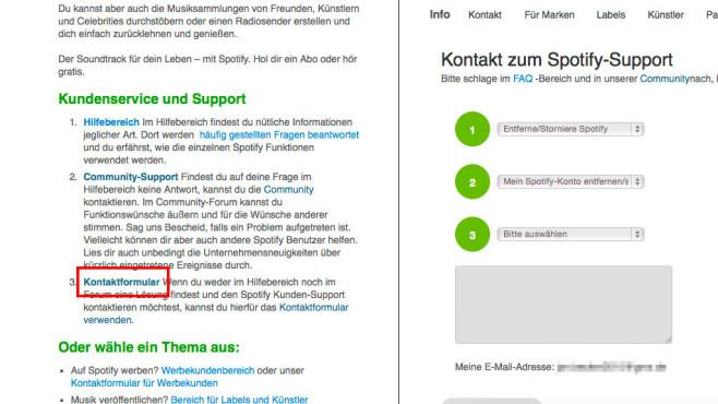 Spotify Account löschen ©COMPUTER BILD