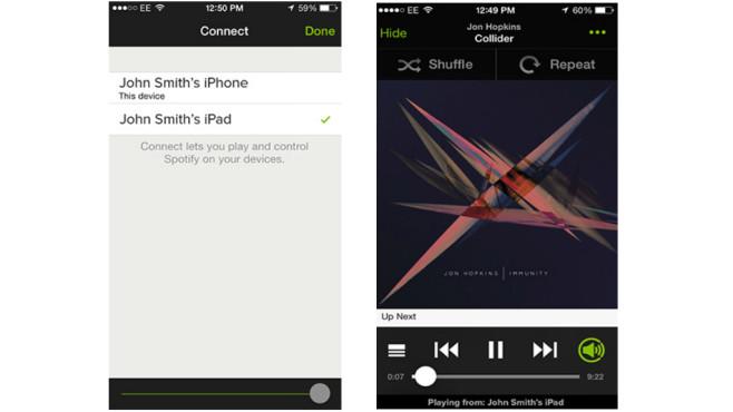 Spotify Connect: Streaming-Sound aus dem Lautsprecher (App) ©Spotify