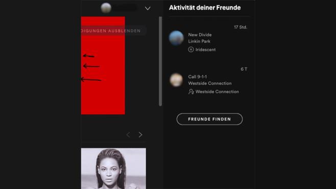 Spotify-Freunde mit Facebook hinzufügen (Desktop, App) ©COMPUTER BILD