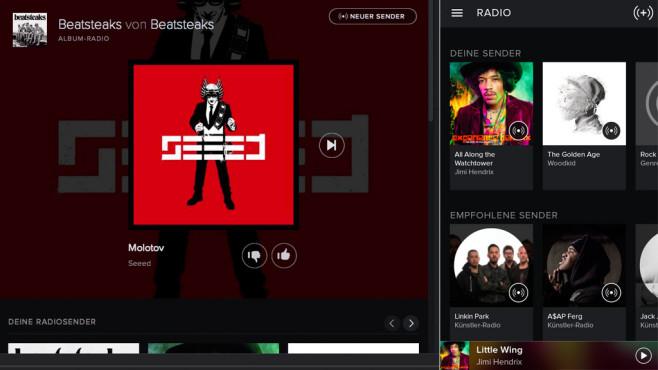 Spotify Radio starten ©COMPUTER BILD
