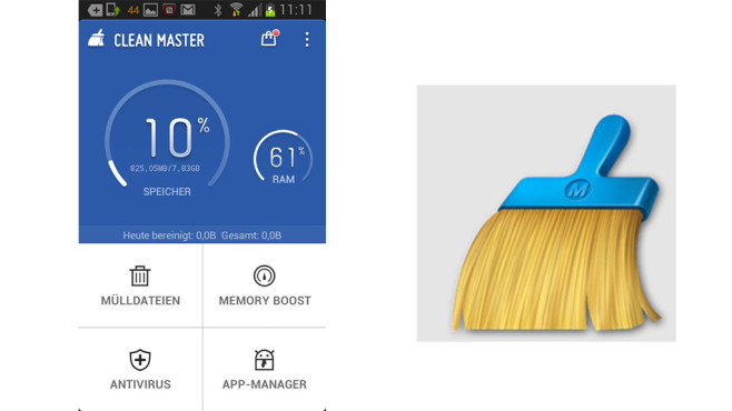 Clean Master im App-Test©Cheetah Mobile
