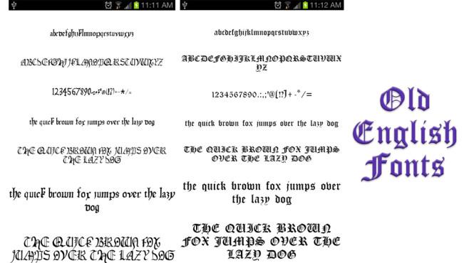 Old English Fonts ©Fonts Free