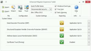 Screenshot Microsoft EMET 5©Microsoft