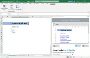 SmartTools Inhaltsverzeichnis für Excel