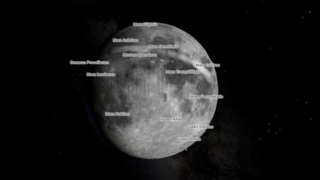 Google Maps: So reisen Sie zu Mond und Mars Jetzt auch mit Mond-Touren: Google Maps erweitert seinen Dienst mit Weltall-Bildern.©Google