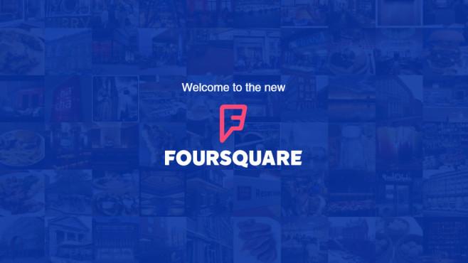 Neue App-Version bei Foursquare©Screenshot: foursquare.com