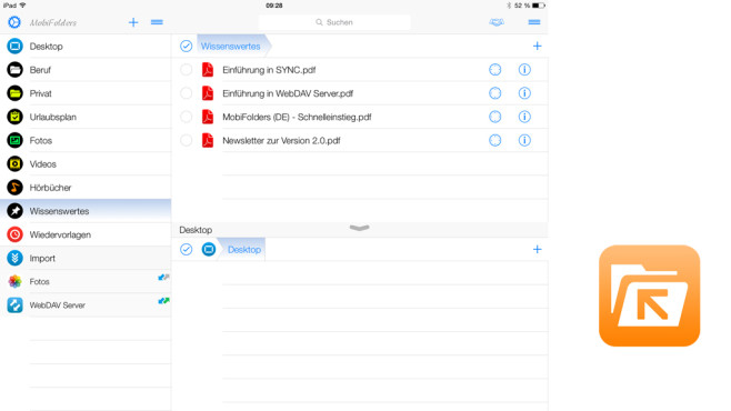MobiFolders – Dateimanager und PDF-Reader ©Telejur Software Solutions GmbH