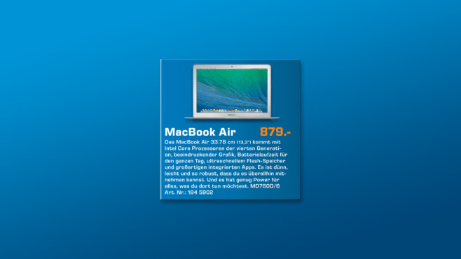 "Apple MacBook Air 13"" ©Saturn"