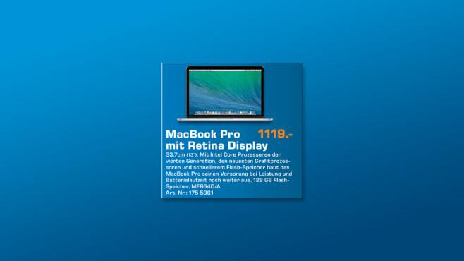 "Apple MacBook Pro 13"" Retina ©Saturn"