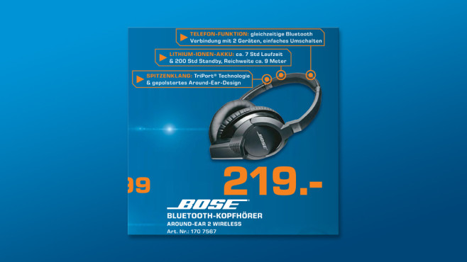 Bose AE2w Bluetooth Headphones ©Saturn
