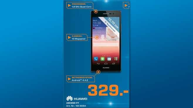 Huawei Ascend P7 ©Saturn