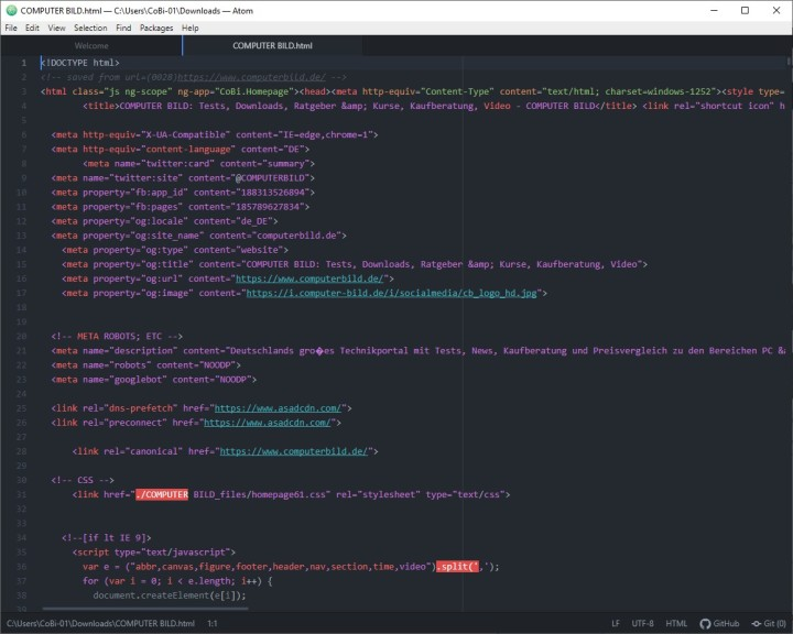 Screenshot 1 - Atom