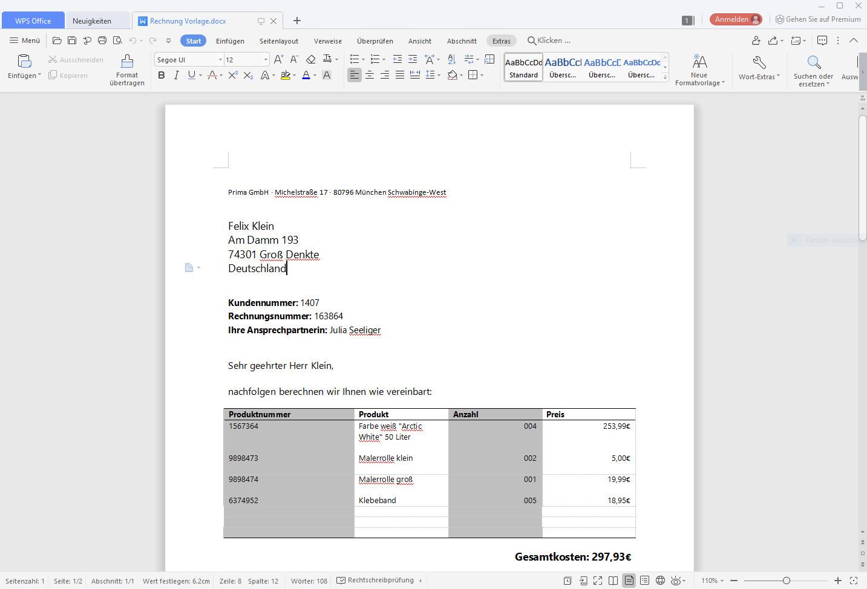 Screenshot 1 - WPS Office Free