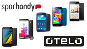 Tiefpreis-Angebot bei Sparhandy: Smartphone-Tarif f�r unter 10 Euro©Sparhandy, Otelo, Samsung, LG, Motorola, Huawei