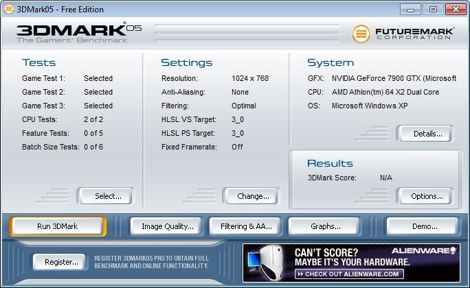 Screenshot 1 - 3DMark05