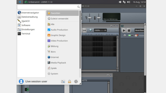 Ubuntu Studio (64 Bit) ©COMPUTER BILD