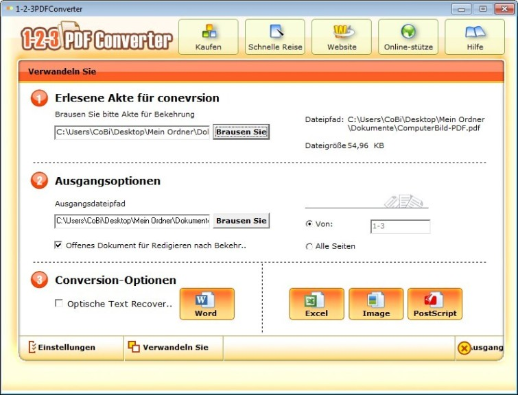 Screenshot 1 - 1-2-3 PDFConverter