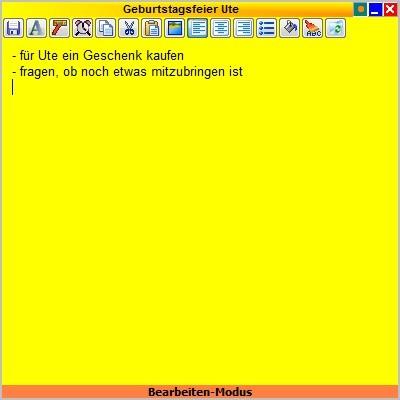 Screenshot 1 - Klebezettel NG