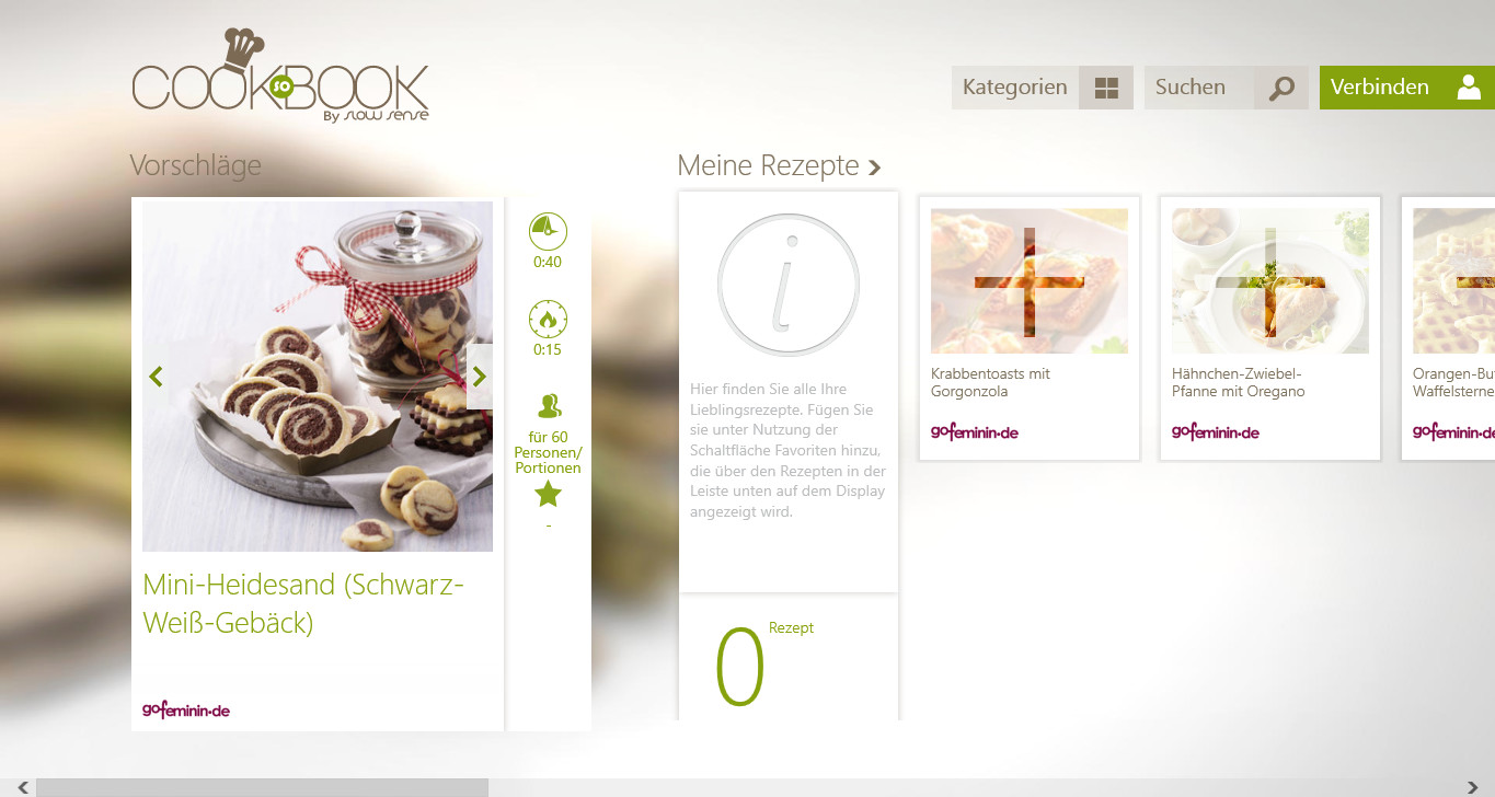 Screenshot 1 - CookBook (App für Windows 10 & 8)