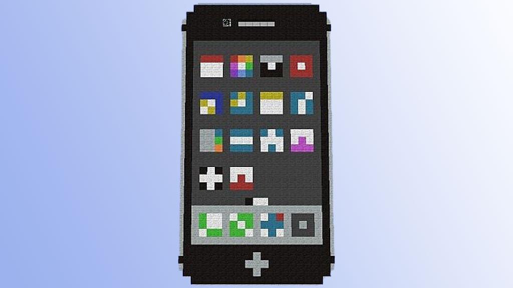 Minecraft: Funktionierendes iPhone nachgebaut