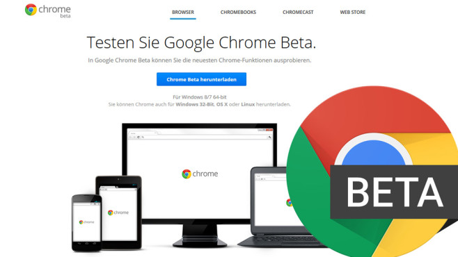 Google Chrome Beta © Google