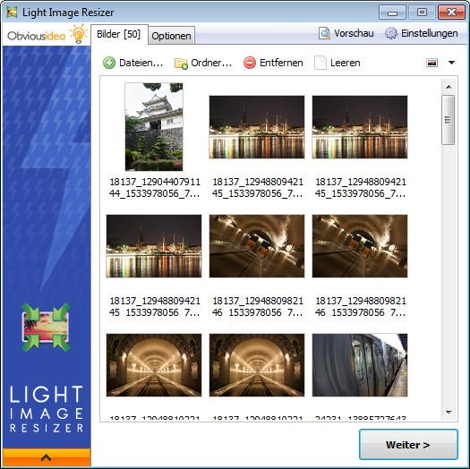 Screenshot 1 - Light Image Resizer