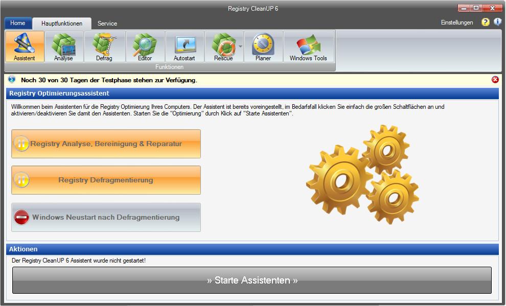 Screenshot 1 - Registry CleanUp Suite