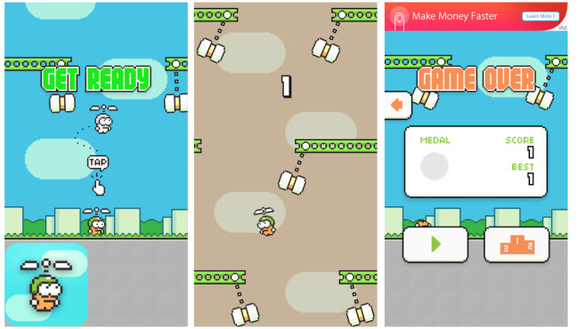 Swing Copters ©Dong Nguyen